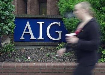 Một văn phòng của AIG tại Croydon, Nam London, Anh. Ảnh: AP.