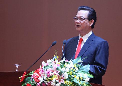 Thủ tướng Nguyễn Tấn Dũng tại phiên khai mạc Hội nghị thường niên ADB ngày 5/5. Ảnh: PV