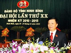 Ông Đinh Tiến Dũng hiện là Bí thư tỉnh Ninh Bình.
