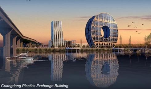 Thiết kế gây tranh cãi của Guangzhou Plastics Exchange
