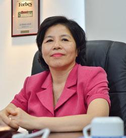 Bà Mai Kiều Liên, Tổng Giám đốc Vinamilk vừa được vinh danh trong danh sách Lãnh đạo xuất sắc nhất châu Á. Ảnh: PV