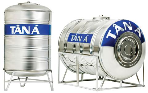 Bồn nước Inox Tân Á được sản xuất bằng nguyên vật liệu INOX SUS 304 siêu bền - đạt tiêu chuẩn quốc tế ISO 9001:2000.