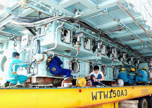 Sau cơn bão số 9 nhấn chìm vào năm 2009, toàn bộ thiết bị của con tàu được trục vớt đưa lên bờ, mời chuyên gia Hàn Quốc sang Việt Nam trợ giúp vệ sinh, rửa mặn, thay thế một số thiết bị hỏng hóc tốn kém chi phí lớn.