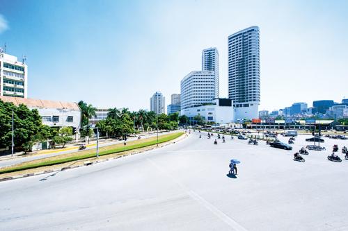 Indochina Plaza Hanoi có vị trí đắc địa tại Hà Nội.