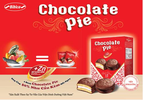 Bánh Chocolate Pie bổ sung kẽm