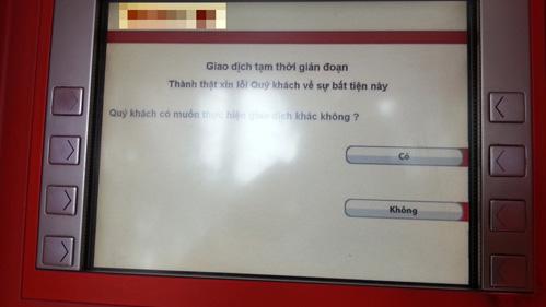 ATM hết tiền bị phạt đến 15 triệu đồng