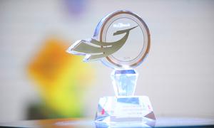 Biểu trưng My Ebank nổi bật trên kỷ niệm chương dành cho ngân hàng điện tử được yêu thích nhất