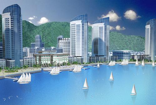 Bên cạnh đó, dự án có các bến du thuyền dọc theo các tòa nhà cao tầng như vịnh biển Miami, đón nhận các tàu du lịch và du thuyền quốc tế đến tham quan thành phố Nha Trang.