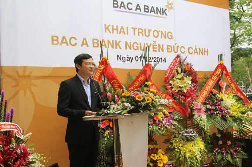 Ông Nguyễn Việt Hanh, Phó tổng giám đốc ngân hàng Bắc Á.