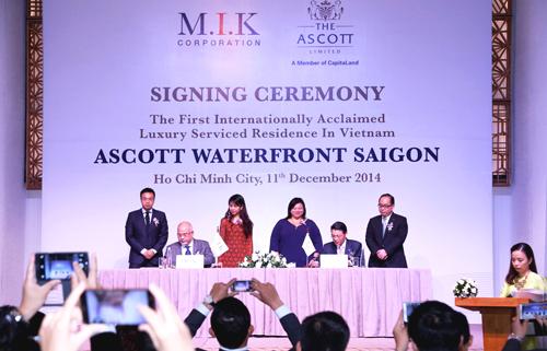 The Ascott Limited (Ascott) - Tập đoàn quản lý thương hiệu căn hộ dịch vụ thuộc quyền sở hữu của CapitaLand & Công ty TNHH Cảnh Hưng Hải Thành, một công ty liên kết thuộc quyền quản lý của Tập đoàn M.I.K Corporation công bố dự án căn hộ dịch vụ siêu sang Ascott Waterfront Saigon vào ngày 11/12/2014 vừa qua.