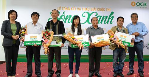 OCB trao giải cuộc thi 'Sống xanh'