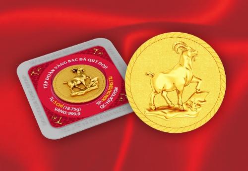 Hơn 50.000 đồng vàng in hình dê cho ngày Thần Tài