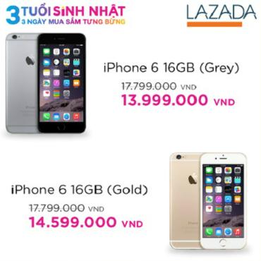 Siêu phẩm Apple iPhone 6 với mức giá chỉ từ 13.999.000 đồng