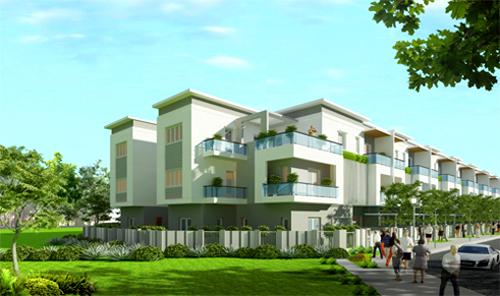 Các căn nhà thiết kế hiện đại nằm trong khuôn viên xanh mát