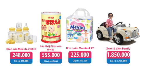 Khai trương siêu thị mẹ và bé, tặng quà tới 100 triệu đồng