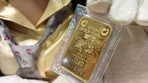 Giá vàng SJC quanh mốc 35 triệu đồng