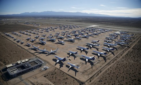 Nghĩa địa máy bay khổng lồ tại Mỹ