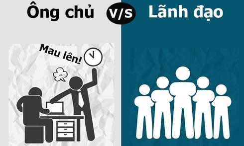 Sự khác biệt giữa ông chủ và lãnh đạo