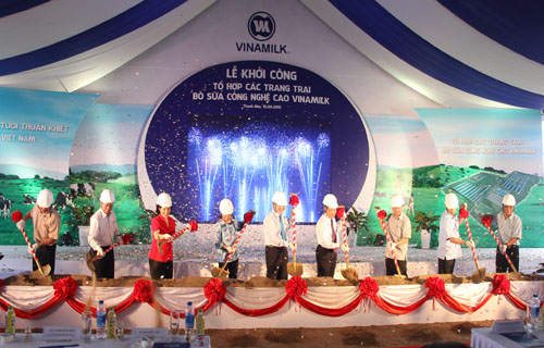 1.600 billion construction consortium largest dairy farm in Thanh Hoa