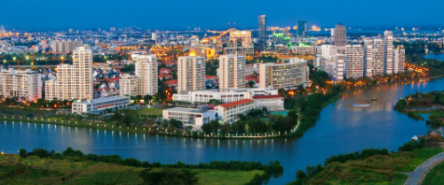 Phú Mỹ Hưng là khu đô thị đầu tiên được quy hoạch hoàn chỉnh ở Việt Nam tính từ sau năm 1986. Ảnh: Kha Thành Trí Đạt.