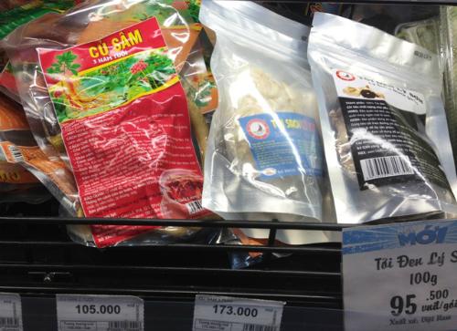 Tỏi đen, rong nho có mặt tại siêu thị 1