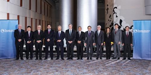 Đại diện 12 nước tham gia đàm phán TPP tại Atlanta (Mỹ). Ảnh:USTR
