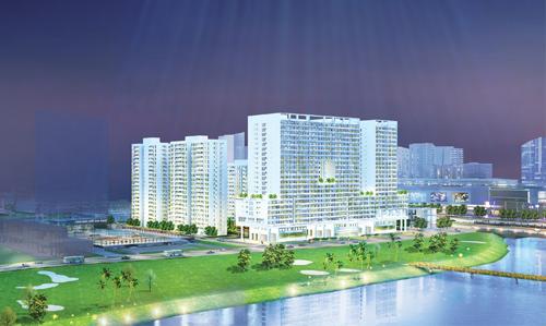 Ở bên kia sông là dự án Scenic Valley do Công ty Kyta đến từ Singapore thiết kế, mang đến không gian sống sinh thái tiện ích phong cách Singapore. Dự án gồm 7 tòa nhà cao 16-24 tầng, cung cấp cho thị trường 1.202 căn hộ khi được đưa vào sử dụng năm 2017.
