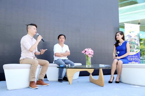 Ông Nguyễn Hữu Vinh  Thạc sỹ/ Nhà thiết kế/ Giảng viên khoa Kiến trúc nội thất Trường ĐH Kiến trúc TP.HCM và ông Nguyễn Hoàng Mạnh  Kiến trúc sư của công ty MIA Design Studio chia sẻ tại Talk Show.