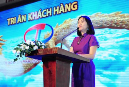 Bà Lã Thị Thanh Phương  Phó Giám đốc công ty Trường Long phát biểu tại buổi lễ