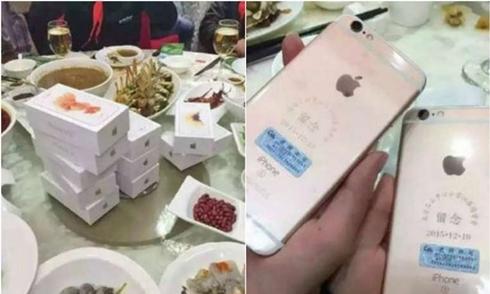 Đại gia tặng bạn học cũ vài chục iPhone 6S trong buổi họp lớp