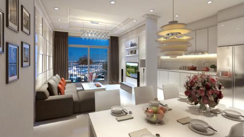Toàn bộ các căn hộ đều được đầu tư nội thất sang trọng, đẳng cấp theo tiêu chuẩn khách sạn 5 sao.