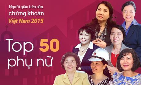 50 phụ nữ giàu nhất sàn chứng khoán sở hữu hơn 20.100 tỷ đồng