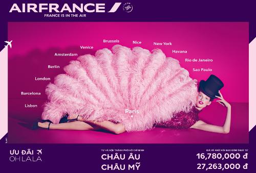 Nhiều ưu đãi từ Air France trong chương trình 'Oh LaLa'