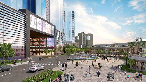 Trung tâm thương mại hiện đại, nơi mua sắm lý tưởng phục vụ 45.000 cư dân tại dự án.