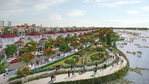Công viên bờ sông dài 3,4km kiến tạo không gian sống xanh, gần gũi thiên nhiên.