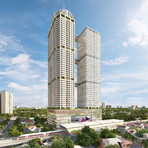 12 4 20167 337489775 2973 1460434313 Sắp cất mái dự án tổ hợp căn hộ 5.000 tỷ đồng trên đường Cầu Giấy