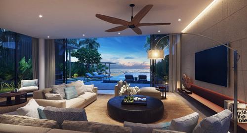 Thiết kế tinh tế của mỗi căn biệt thự 4 phòng ngủ được chăm chút tinh tế để tối đa tầm nhìn biển mà vẫn đảm bảo sự riêng tư, yên bình và thiên nhiên hòa hợp cho không gian nghỉ dưỡng, hưởng thụ.
