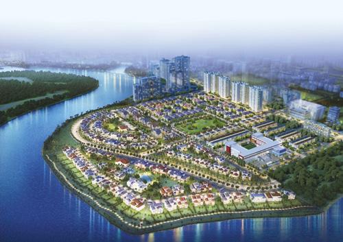 Phần lớn nhà trong khu Nam Viên là biệt thự phố vườn và đơn lập xen lẫn không gian xanh rộng lớn nhất trong toàn khu đô thị. Hiện tại đây có 17 biệt thự, 8 khu căn hộ.