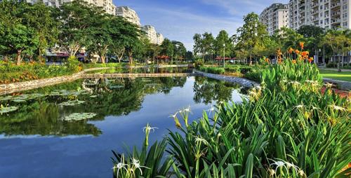 Vị trí dự án Le Jarin được bao quanh bởi tổ hợp công viên có tổng diện tích rộng 45.000m2, xung quanh là các khu biệt thự đã đưa vào sử dụng.