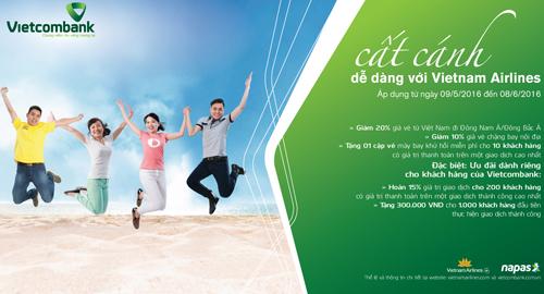 Chi tiết thể lệ chương trình, quý khách hàng vui lòng tham khảo tại www.vietnamairlines.com và www.vietcombank.com.vn