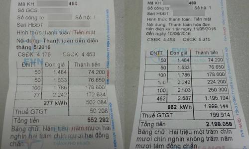 Người dân choáng váng vì tiền điện tăng gấp 4 lần