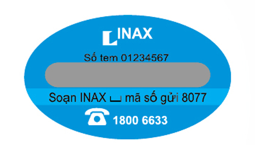 tem chống giả inax  Xác thực hàng chính hãng INAX qua tin nhắn SMS