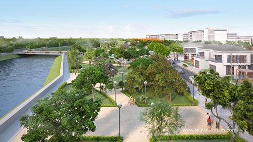 Khu đô thị PhoDong Village đã chiếm giữ vị trí trái tim xanh của thành phố mới phía Đông, trở thành nơi an cư Phong thủy đắc địa - Tụ khí sinh tài cho những chủ nhân tương lai