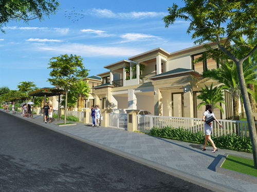 ý tưởng thiết kế địa trung hải của biệt thự Senturia Nam Sài Gòn chủ đầu tư Tiến Phước