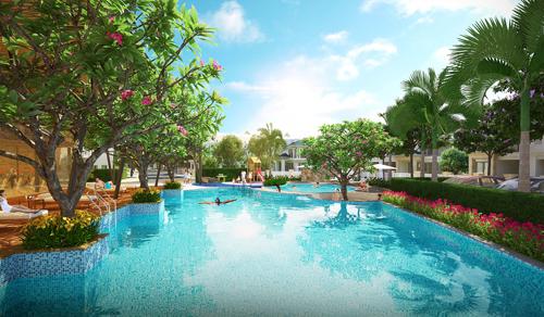 không gian sống xanh tại dự án senturia Nam Saigon