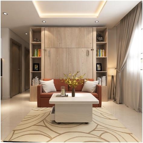 Nội thất trong căn hộ có khả năng xếp, gấp, thu gọn sau khi không sử dụng