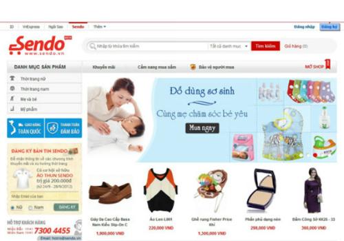 Sendo.vn - sàn thương mại điện tử ra đời ngay trong lòng của FPT. Bắt đầu hoạt động từ năm 2012, đến cuối 2014, Sendo.vn có 70.000 cửa hàng ảo đăng ký kinh doanh. Số lượng sản phẩm đang bán đã lên đến 2 triệu, mỗi tháng có 8 triệu lượt truy cập với 120.000 đơn hàng được giao dịch.