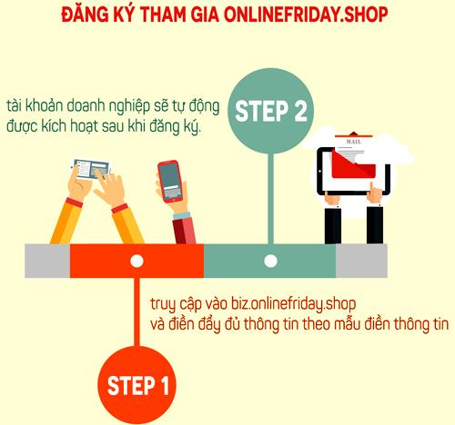 Mẫu đăng ký Onlinefriday.shop dành cho doanh nghiệp.