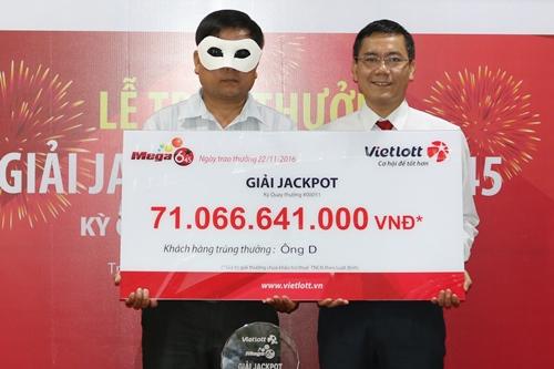 Khách hàng trúng số 71 tỷ đồng đến từ Quảng Ngãi