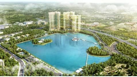 Lần đầu tiên Vingroup phủ toànbộ 3 toà tháp bằng một màu xanh dương.